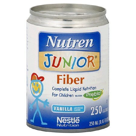 Nutren Junior Fiber Liquid Nutrition for Children Vanilla - 8.45 oz.