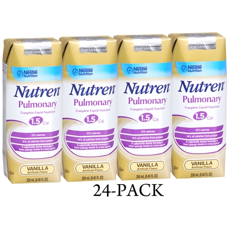 Nutren Pulmonary Complete Liquid Nutrition 1.5 Cal 24 Pack Vanilla - 250 fl oz
