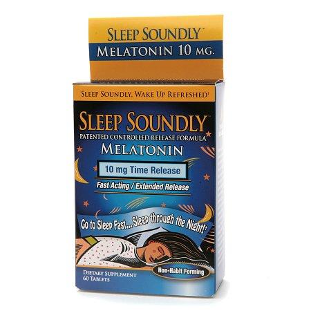 NutritionWorks Sleep Soundly Melatonin 10mg, Time Release Tablets - 60 ea