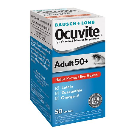 Ocuvite Adult 50+ Lutein & Omega 3 Eye Vitamin & Mineral Supplement Softgels - 50 ea
