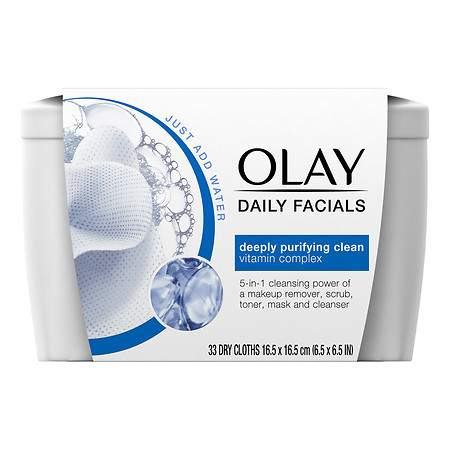 Olay Daily Facials Deeply Purifying Cleansing Cloths - 33 ea