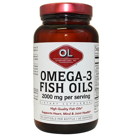 Olympian Labs Omega-3 Fish Oils 2000mg - 120 softgels