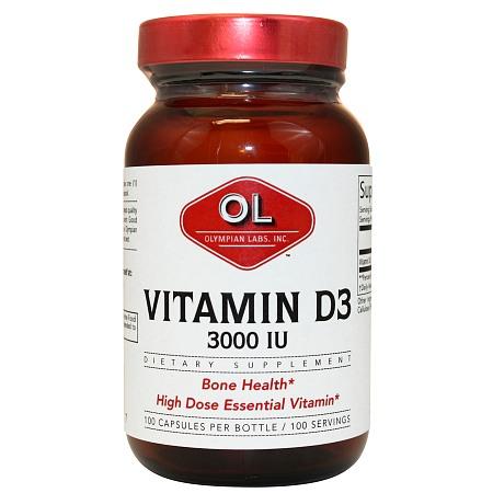 Olympian Labs Vitamin D3 3000 IU - 100 ea