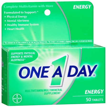 One A Day Energy MultivitaminMultimineral Supplement Tablets - 50 ea