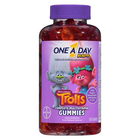 One A Day Kids Trolls Gummies - 180 ea