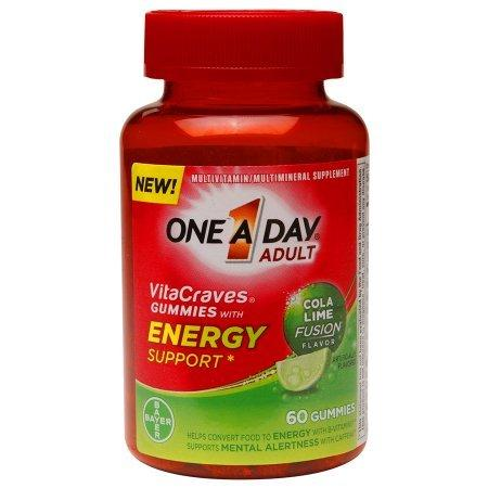 One A Day VitaCraves Energy Support Gummies Cola Lime - 60 ea