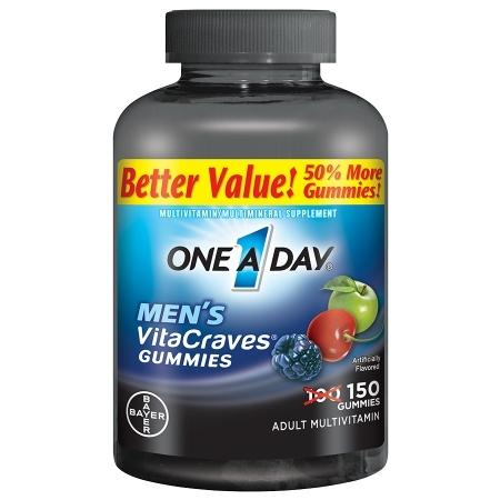 One A Day VitaCraves Men's Multivitamin Gummies - 150 ea