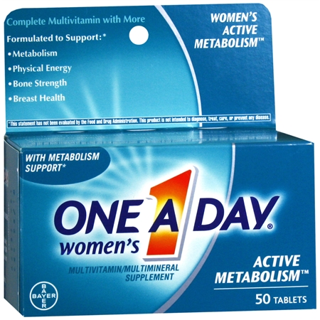 One A Day Women's Active Metabolism MultivitaminMultimineral Supplement Tablets - 50 ea