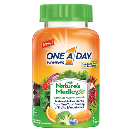 One A Day Women's with Nature's Medley Complete Multivitamin Supplement Gummies - 60 ea