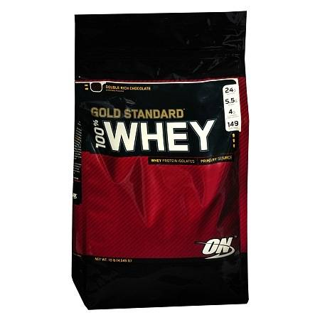Optimum Nutrition 100% Whey Gold Standard Whey Protein Isolates Dietary Supplement Powder Chocolate - 160 oz.