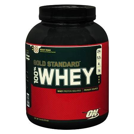 Optimum Nutrition Gold Standard 100% Whey Protein Rocky Road - 80 oz.