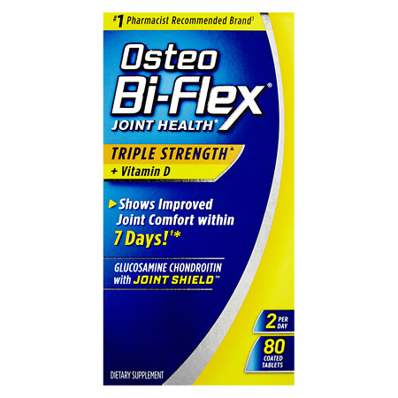 Osteo Bi-Flex Joint Health with Vitamin D, Triple Strength Coated Tablets - 80 ea