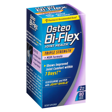 Osteo Bi-Flex Triple Strength + MSM, Coated Tablets - 80 ea