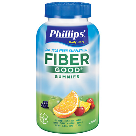 Phillips Fiber Good Gummies Natural Fruit Flavors - 90 ea