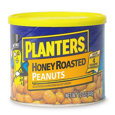 Planters Honey Roasted Peanuts - 12 oz.