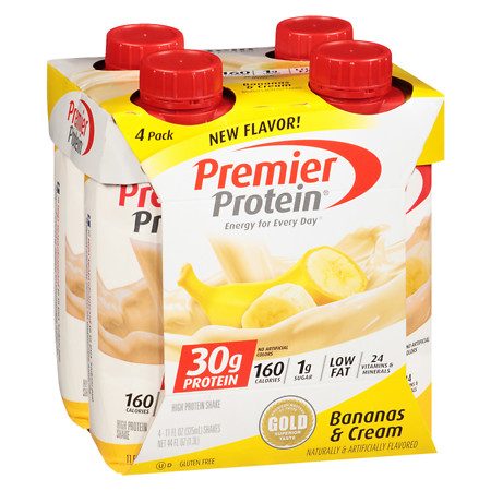 Premier Protein High Protein Shakes Bananas & Cream - 11 oz.