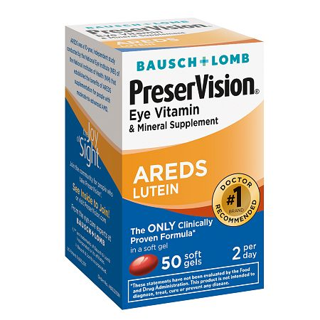 PreserVision Eye Vitamin and Mineral Supplement with AREDS Lutein, Softgels - 50 ea