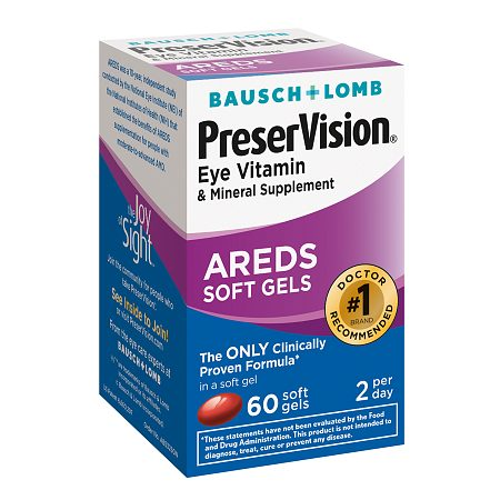 PreserVision Eye Vitamin and Mineral Supplement, with AREDS, Softgels - 60 ea