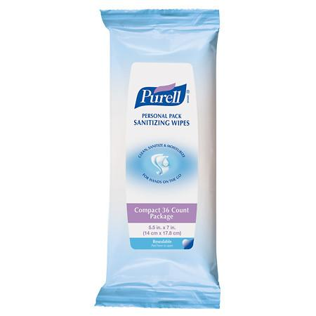 Purell Personal Pack Sanitizing Wipes - 36 ea