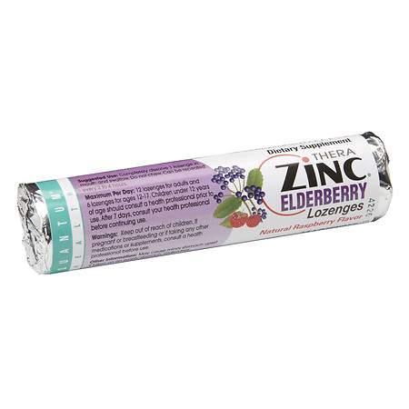 Quantum Health Zinc Elderberry Lozenges Raspberry - 14 ea
