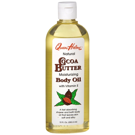 Queen Helene Natural Moisturizing Cocoa Butter Bath and Shower Body Oil - 10 fl oz