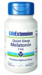 Quiet Sleep Melatonin, 5 mg, 60 vegetarian capsules