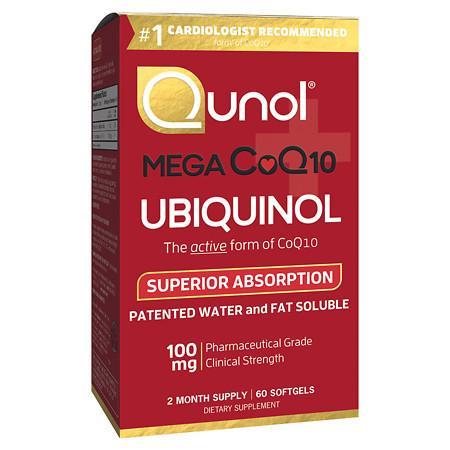 Qunol Mega CoQ10 10 Ubiquinol Dietary Supplement Softgels - 60 ea