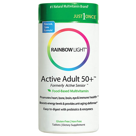 Rainbow Light Active Adult 50+ Food-Based Multivitamin, Tablets - 90 ea