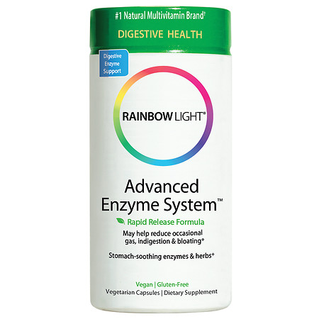 Rainbow Light Advanced Enzyme System Dietary Supplement Capsules - 90 ea