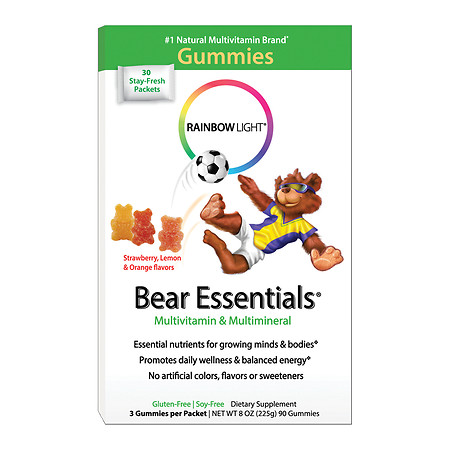 Rainbow Light Gummy Bear Essentials Multivitamin & Multimineral, Packets - 30 ea