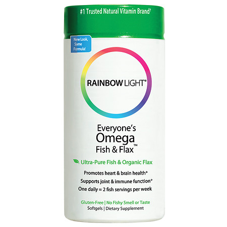 Rainbow Light Just Once Everyone's Omega Fish & Flax Oil Dietary Supplement Softgels - 60 ea