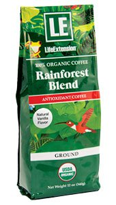 Rainforest Blend Ground Coffee Natural Vanilla Flavor, 12 oz (340 g)