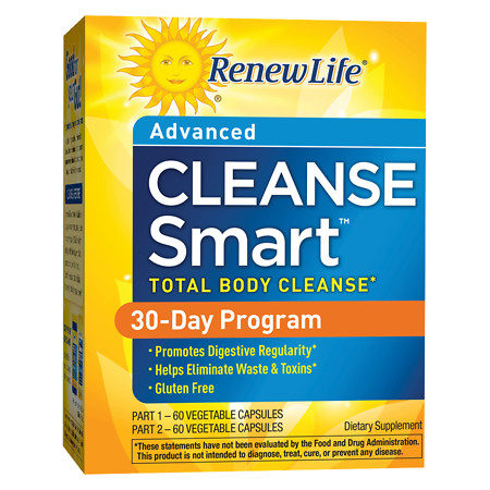 ReNew Life CleanseSmart Advanced Dietary Supplement Vegetable Capsules - 120 oz.