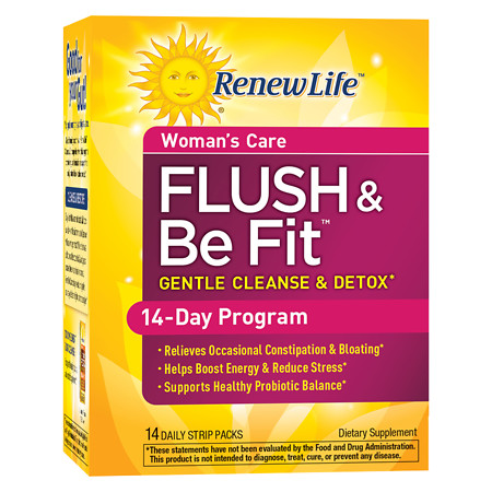 ReNew Life Flush & Be Fit Dietary Supplement Strip-Packs - 14 ea