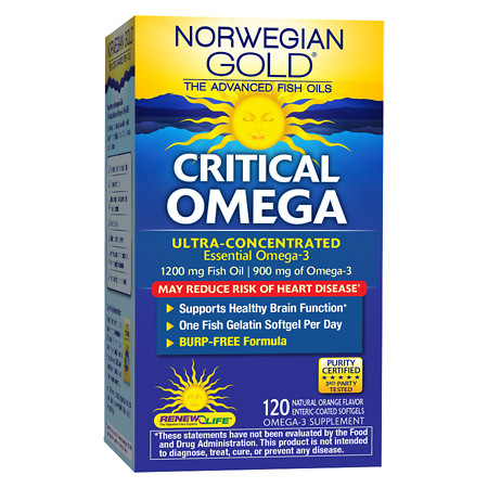 ReNew Life Norwegian Gold Critical Omega, Ultimate Fish Oils, Gels Orange - 120 ea