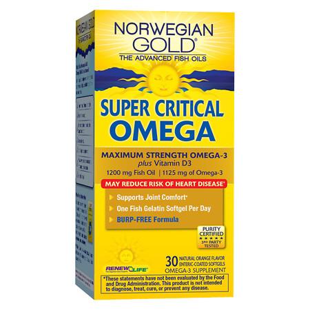 ReNew Life Norwegian Gold Super Critical Omega, Fish Gels Orange - 30 ea