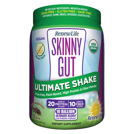 ReNew Life Skinny Gut Ultimate Shake Chocolate - 14.5 oz.