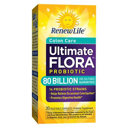 ReNew Life Ultimate Flora Critical Colon Bifido Max Dietary Supplement Capsules - 30 ea