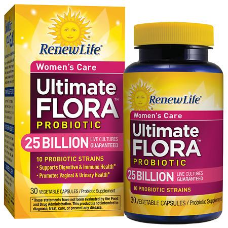 ReNew Life Ultimate Flora Women's Care Probiotic Veggie Capsules - 30 ea