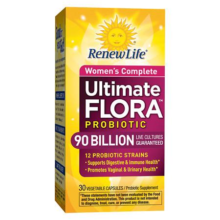 ReNew Life Ultimate Flora Women's Complete 90 Billion, Capsules - 30 ea