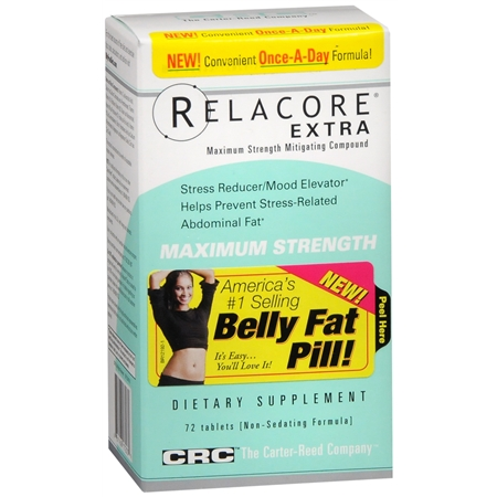 Relacore Extra Max Weight Loss Aid, Tablets - 72 ea
