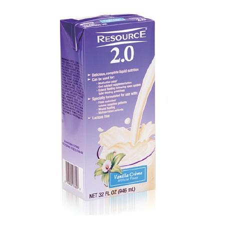 Resource 2.0 Medical Food Complete Liquid Nutrition Vanilla - 32 oz.