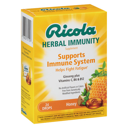 Ricola Immunity Herb Drops Honey, Honey - 1 ea