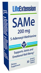 SAMe (S-Adenosyl-Methionine), 200 mg, 30 enteric coated tablets