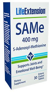 SAMe (S-Adenosyl-Methionine), 400 mg, 30 enteric coated tablets