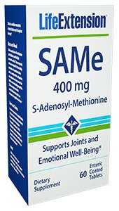 SAMe (S-Adenosyl-Methionine), 400 mg, 60 enteric coated tablets