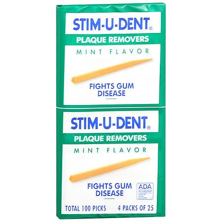 STIM-U-DENT Plaque Removers Mint - 100 ea