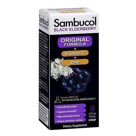 Sambucol Black Elderberry Immune System Support, Immune Formula - 4 fl oz