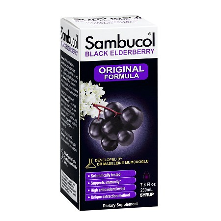 Sambucol Black Elderberry Immune System Support, Original Formula - 7.8 fl oz