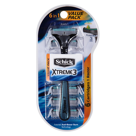 Schick Xtreme 3 Razor With 6 Cartridges - 1 ea